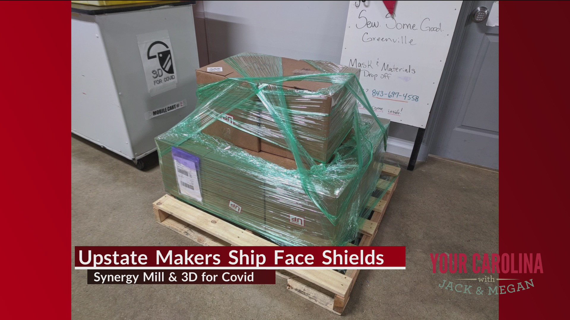Face Shields Headed to Philly