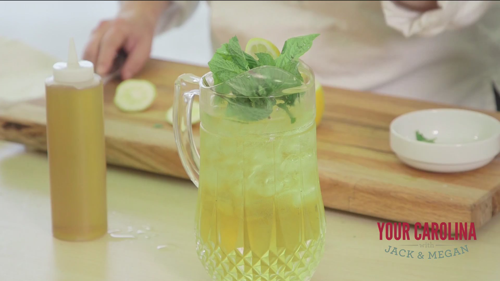Chef's Kitchen -Three-Herb Iced Tea with Chamomile Syrup