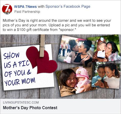Facebook sponsored post
