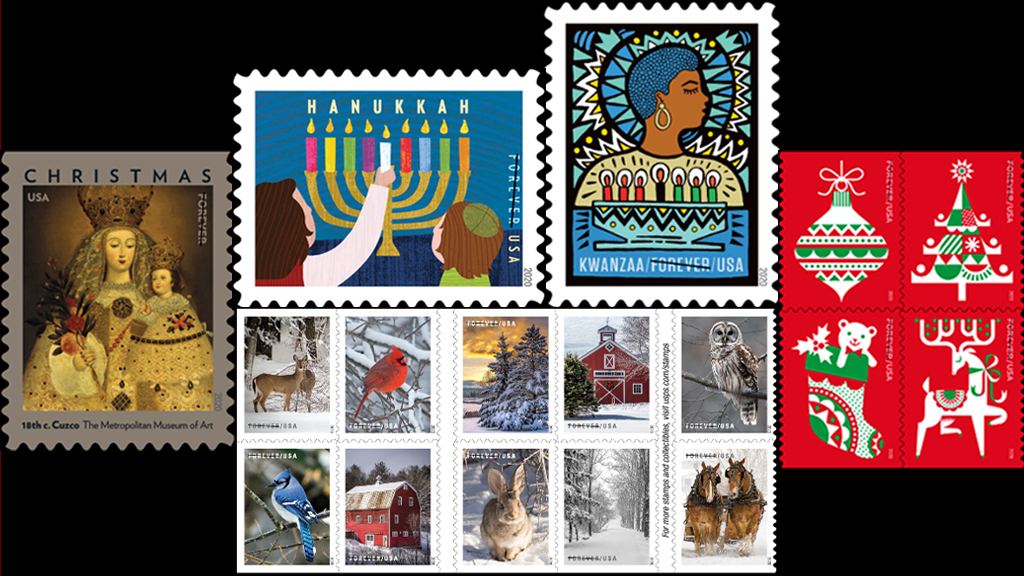 2020 Christmas Stamps Preview USPS unveils 5 new Forever Stamps for holiday season