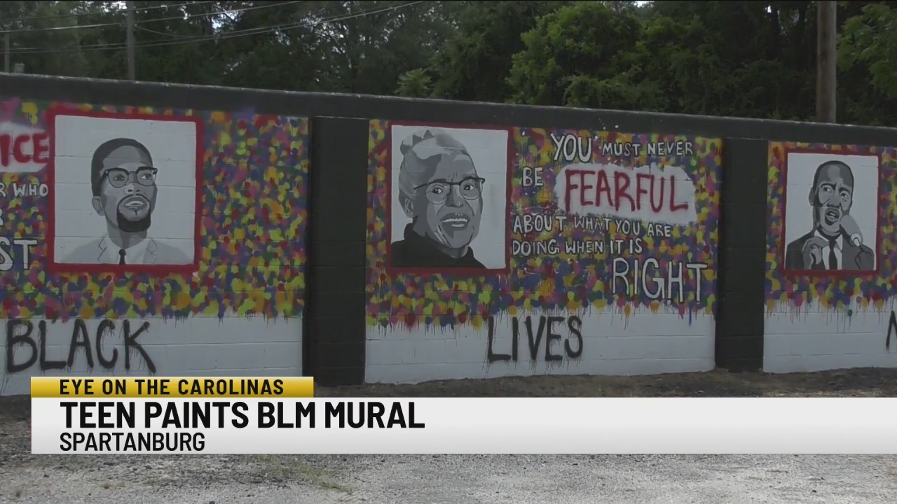 Spartanburg teen paints mural that advocates for change