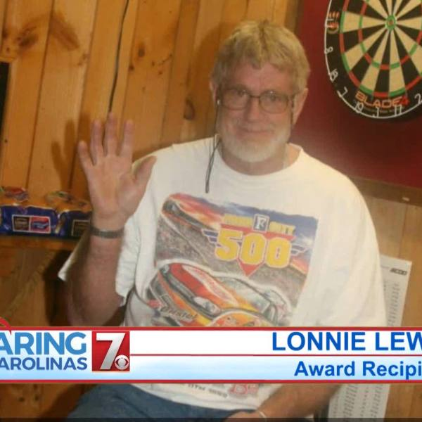 Lonnie Lewis August 2020 Caring for the Carolinas Award Winner