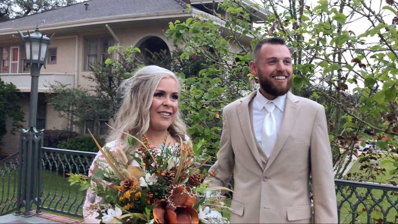Wedding before the storm Delta speeds up couple's nuptials   WSPA ...
