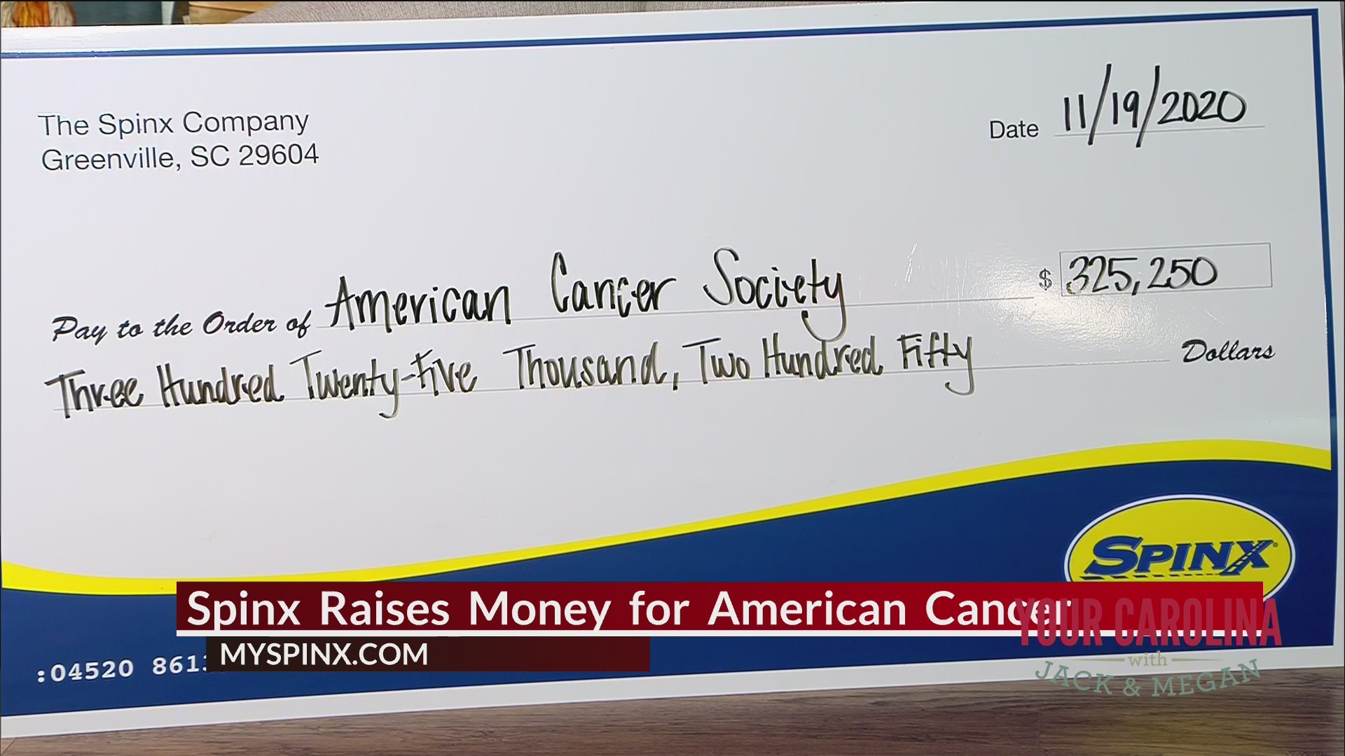 Spinx Helping American Cancer Society