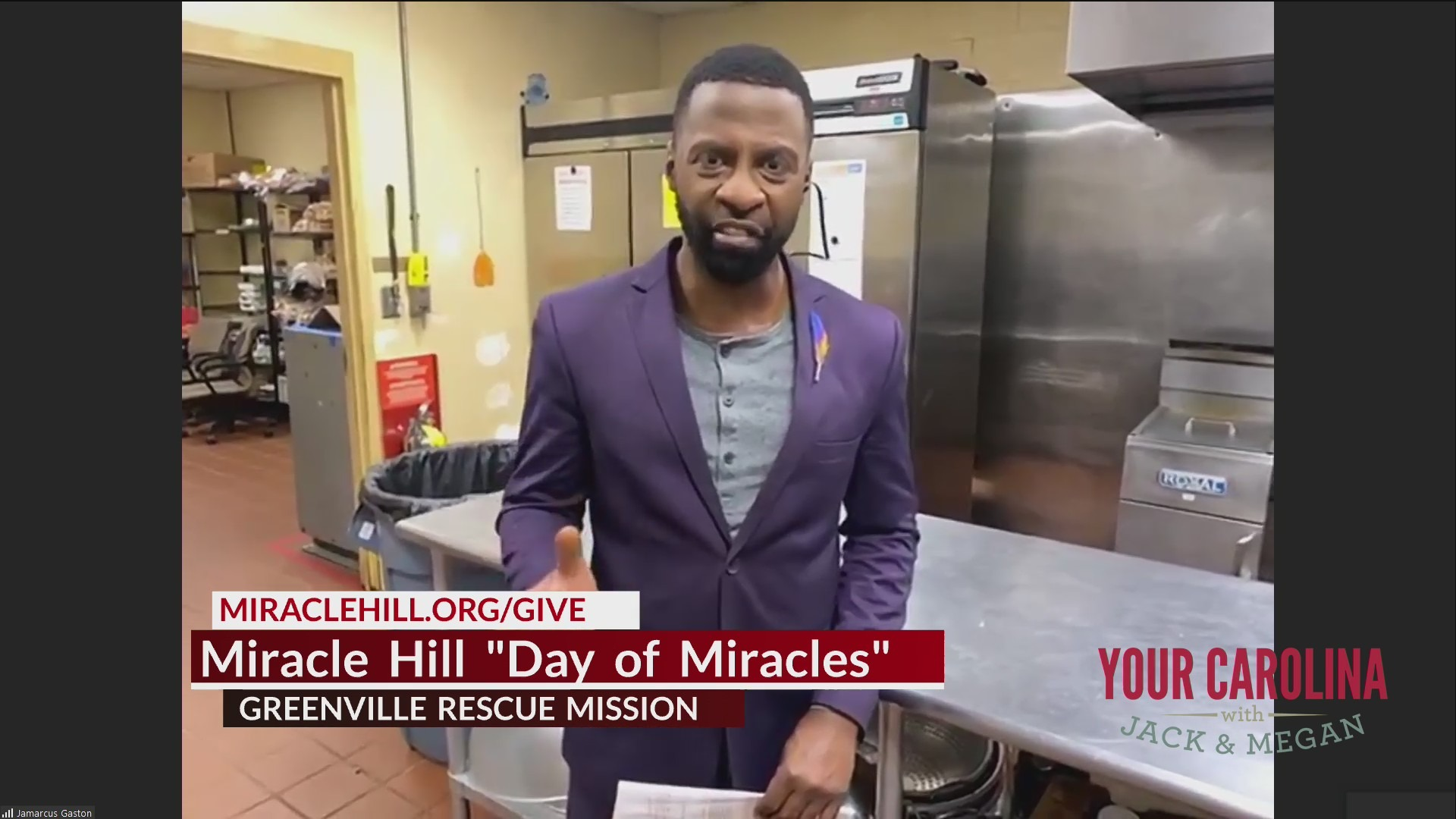 We go back live to Jamarcus at Miracle Hill Ministries