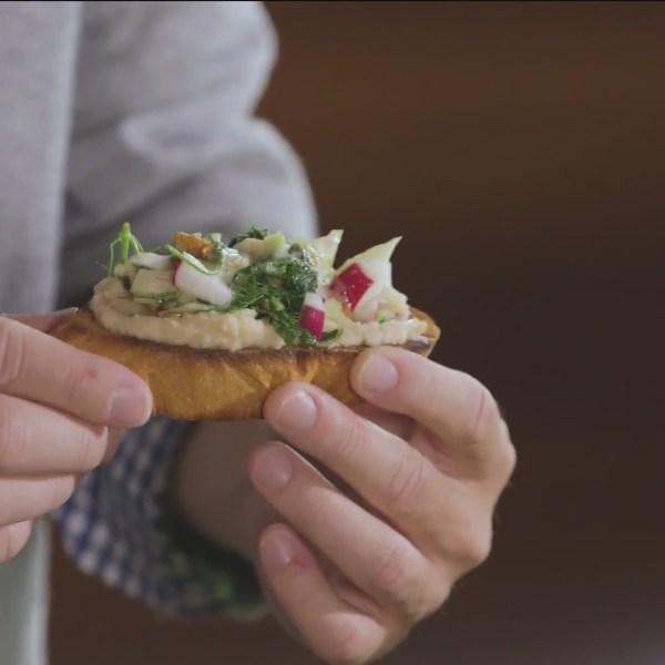 Chef's Kitchen - Garlic, Radish and Fennel Toast