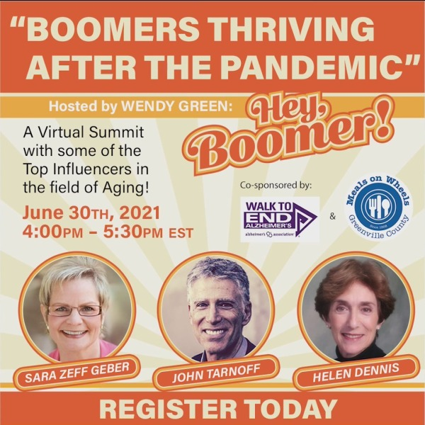 """""""Boomers Thriving After the Pandemic"""" Virtual Summit"""