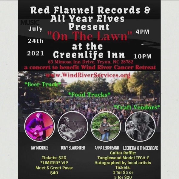 On The Lawn at Greenlife Inn Event This Saturday