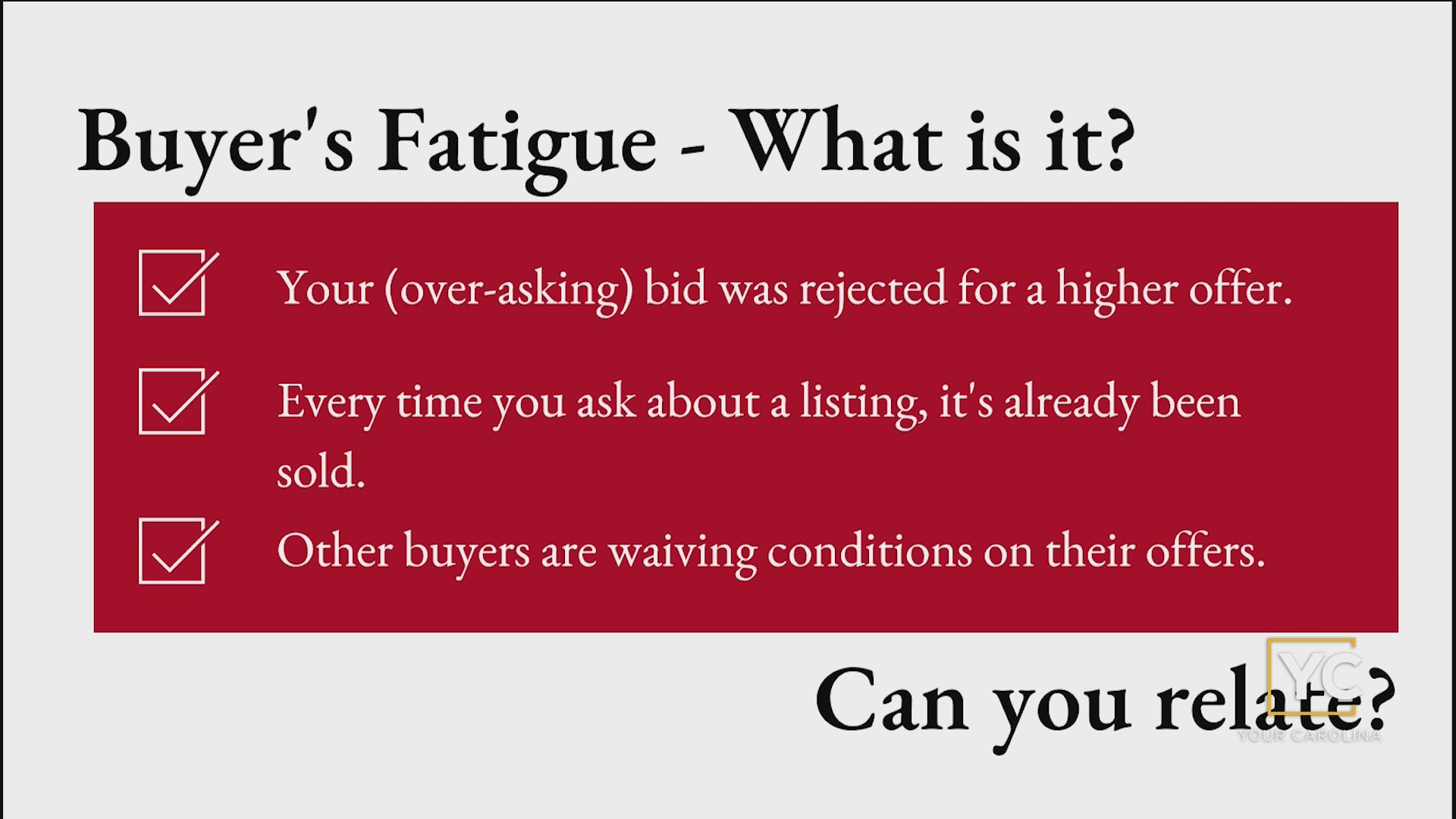 Upstate Homes - Buyer Fatigue: What is it and how to avoid it!
