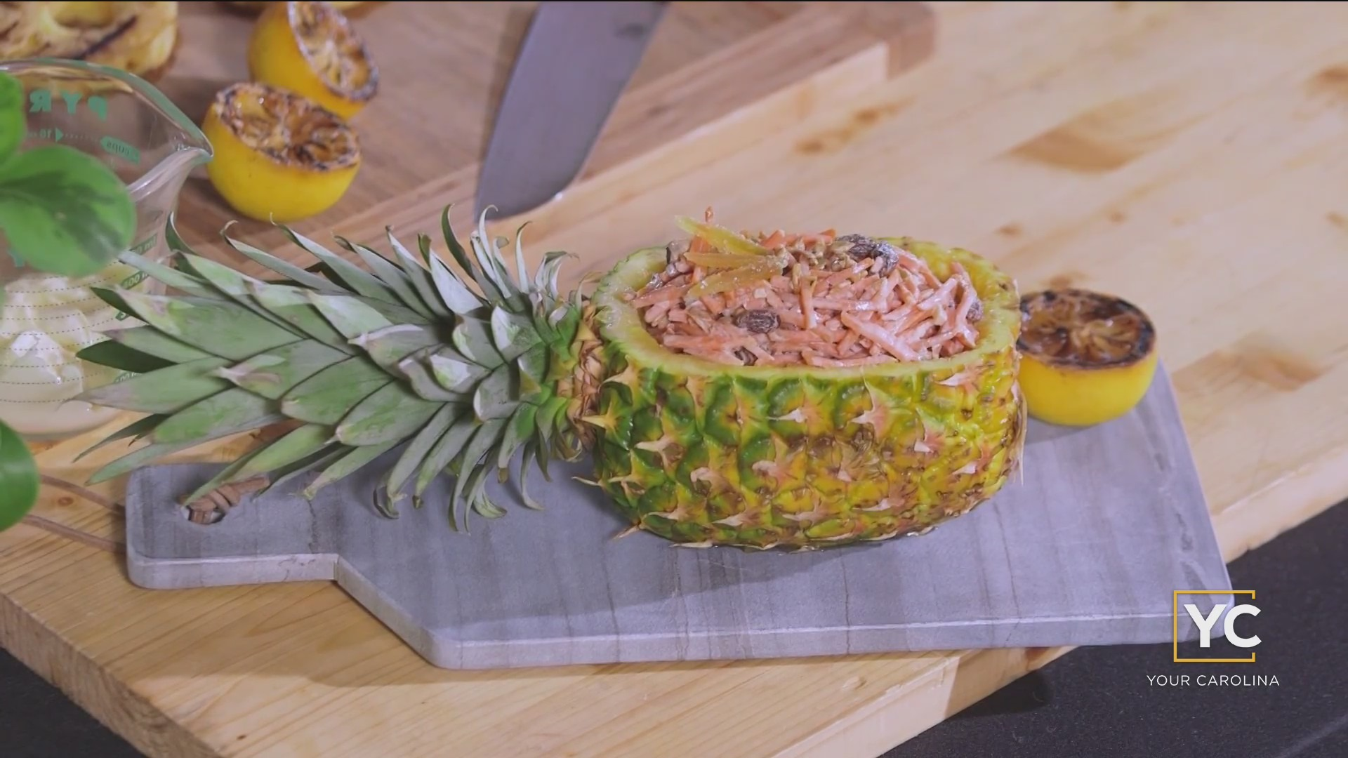 Chef's Kitchen - Clark's Carrot Raisin Salad with Grilled Pineapple